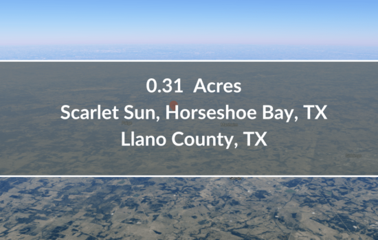 Contract for Sale – 0.31 Acres Lot Available in Llano County, TX