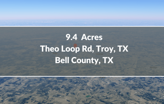 Contract for Sale – 9.4 Acres Lot Available in Bell County, TX