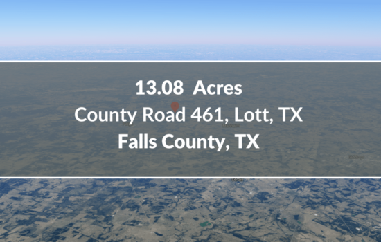 Contract for Sale – 13.08 Acres Lot Available in Falls County, TX